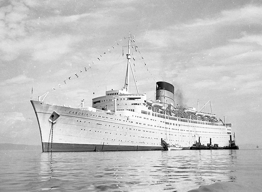 Caronia in around 1956 in Trondheim Fjord.
