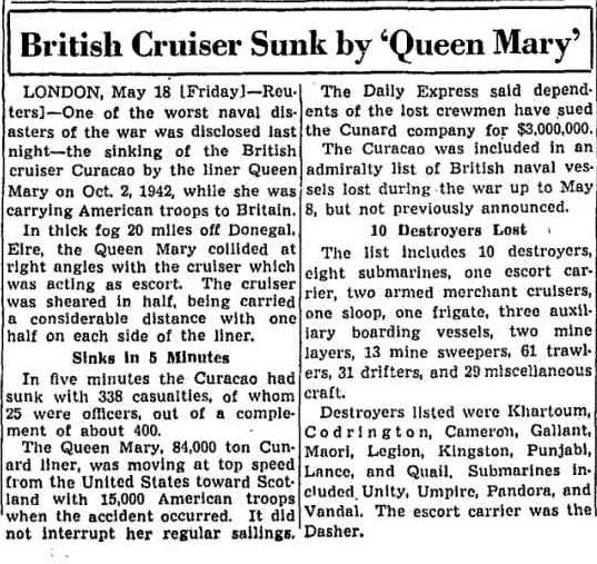 Queen Mary Curacoa