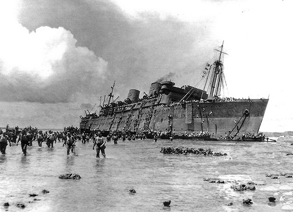 Coolidge Troops Ashore