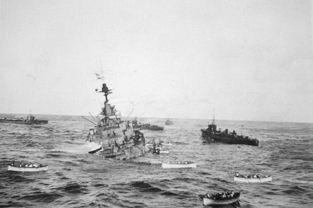 The sinking HMS Audacious
