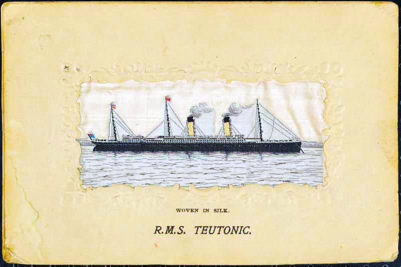Teutonic Silk Postcard, A