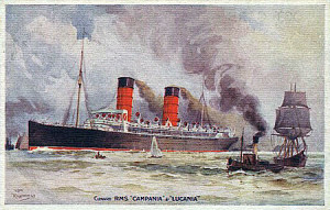 Campania-Lucania Postcard