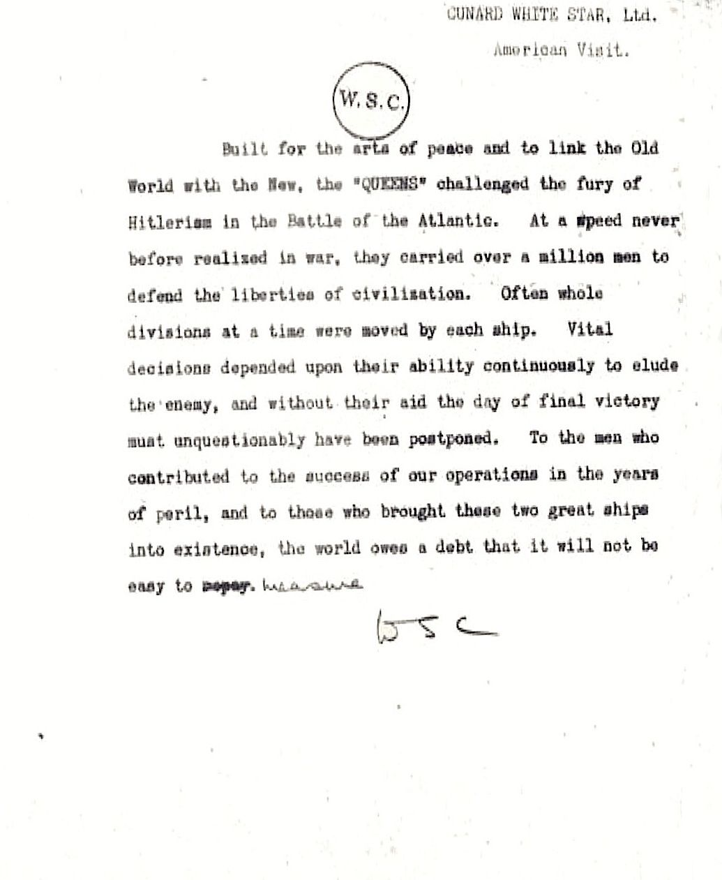 Churchill Letter