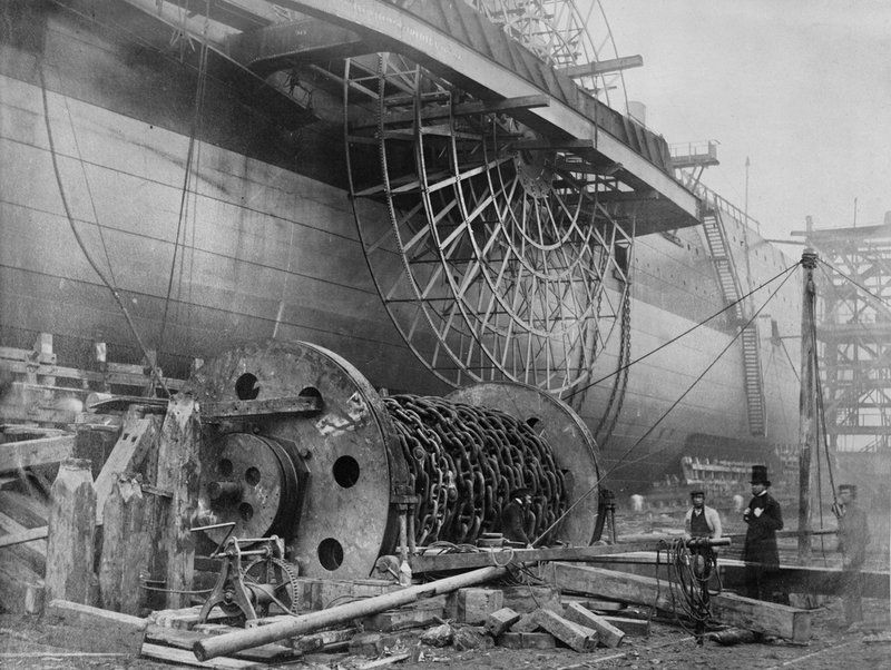 Leviathan, prior to her abandoned launch.