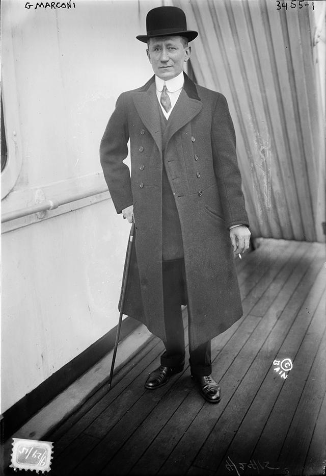 Marconi, wireless pioneer.