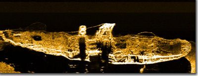 Portland side-scan sonar image.