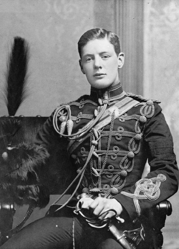 Winston Churchill in uniform, 1895.