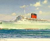 Caronia (1949) Begins Her Maiden Voyage