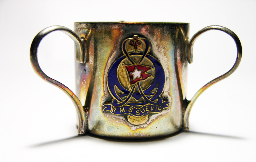 Small Suevic cup, from the Oceanliners Magazine collection.