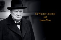 Winston Churchill and Queen Mary
