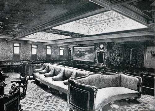 Teutonic's First Class Dining Room.