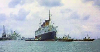Queen Mary's Final Dry Dock Visit