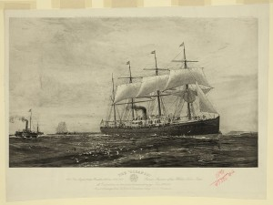First Voyage of the First White Star Liner