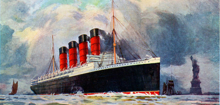 1915: Lusitania Departs for Liverpool
