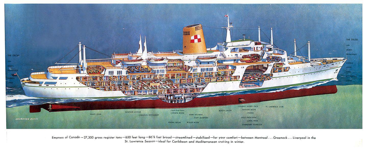 Empress of Canada Cutaway