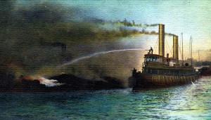Hoboken Pier Fireboat