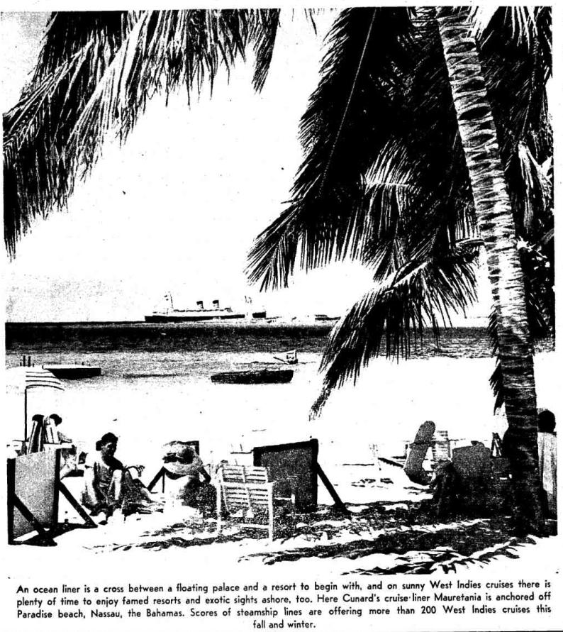 ocean liner cruise advertisements 1963