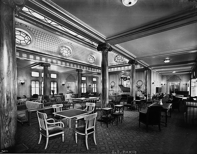 First Class, Lounge and Card Room.