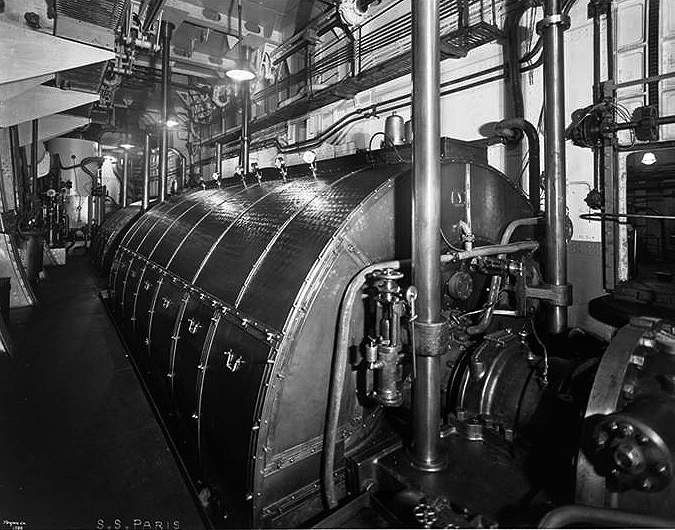 Starboard Turbine Room, looking aft.