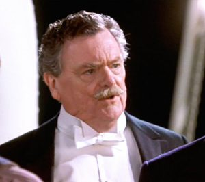 "Bernard Fox as Col. Archibald Gracie IV in ""Titanic."""