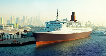 Queen Mary 2 Guests First to Board the QE2 Hotel in Dubai